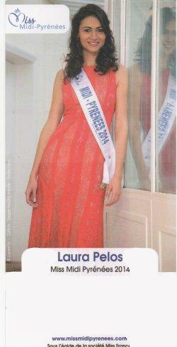 Laura Pélos - Miss Midi-Pyrénées 2014