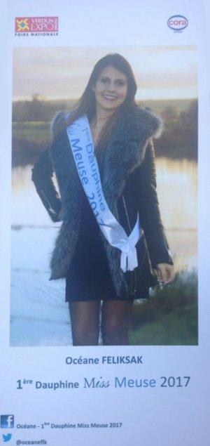 Océane Féliksak - 1ère Dauphine Miss Meuse 2017