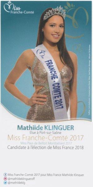 Mathilde Klinguer - Miss Franche-Comté 2017