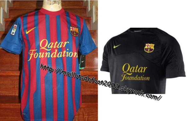 Maillots FC Barcelone Domicile-Extérieur 2011-2012