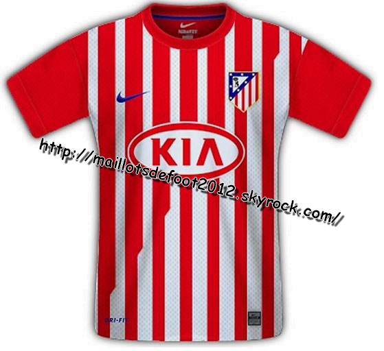 Maillots Atletico-Madrid Domicile 2011-2012