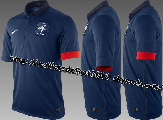 Nouveaux Maillots de L'equipe de France Domicile 2011-2012