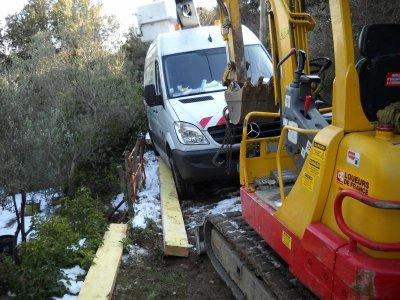 effondrement du chemin près de lodève