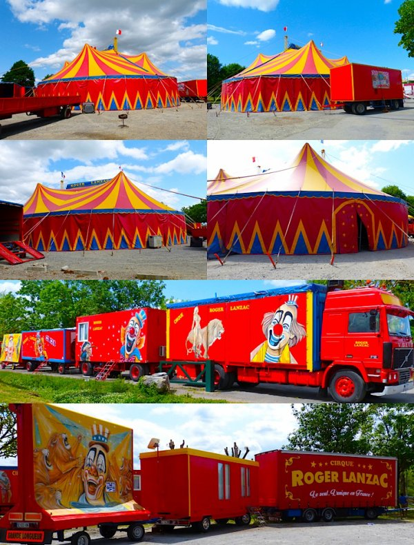 LE GRAND CIRQUE ROGER LANZAC - MORDON PRODUCTION - GÉANT DU SUD-OUEST FRANCE - SOUES 2015 !!  PARTIE 1 --> INSTALLATIONS