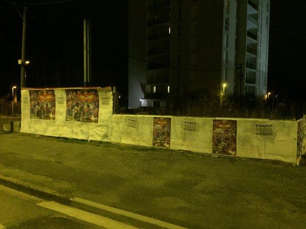 SESSION AFFICHAGE PAR MES SOINS ET SÉBASTIEN- CIRQUE LA PISTE AUX ÉTOILES 2017 À PAU