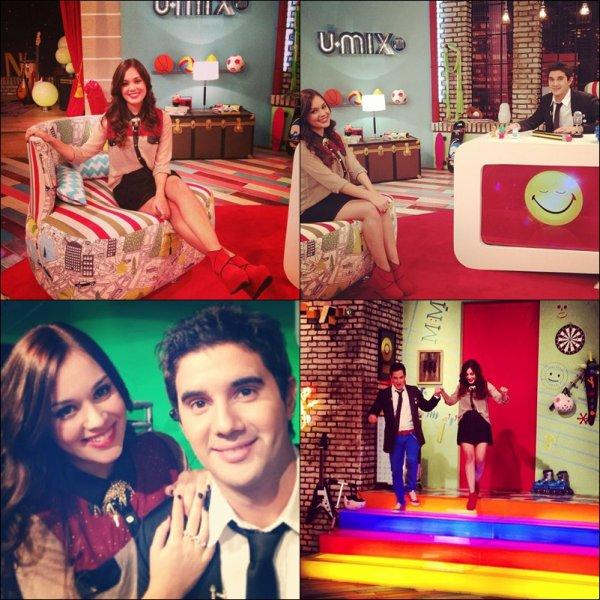 Valeria et passe sur le plateau de U-Mix comme c'est partenaire dans Violetta 2.