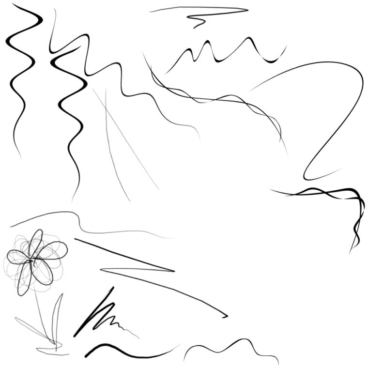 BRUSH : TOURBILLONS (2) , DESSINER (1) , TRACER (2)