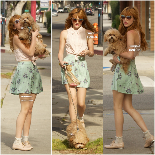 Un peu plus tard dans la journée du 3 mars, Bella se baladait avec Kingston à Los Angeles.