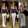 Bella et sa maman à l'aéroport de LAX le 13 mai 2013.