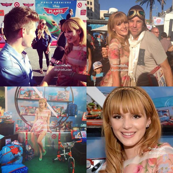 Deux photos de Bella arrivant sur le tapis rouge de Planes le 5 août 2013.
