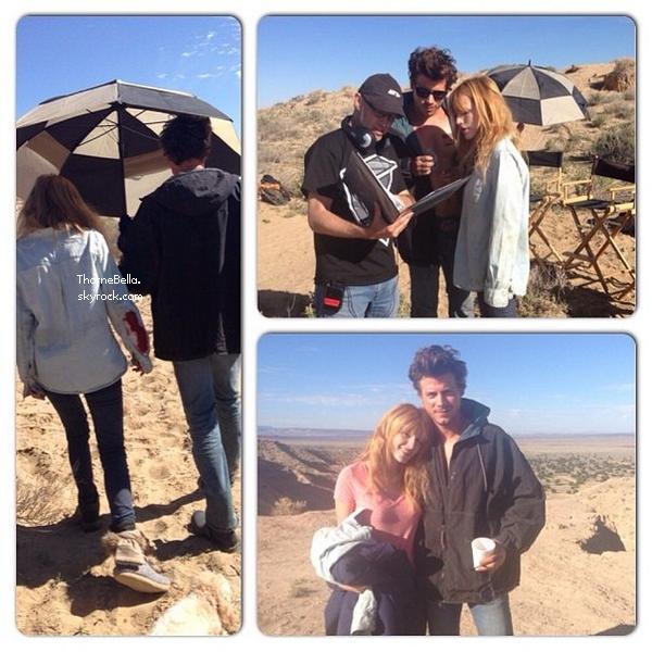 Bella sur le tournage de Big Sky le 25 octobre 2013.