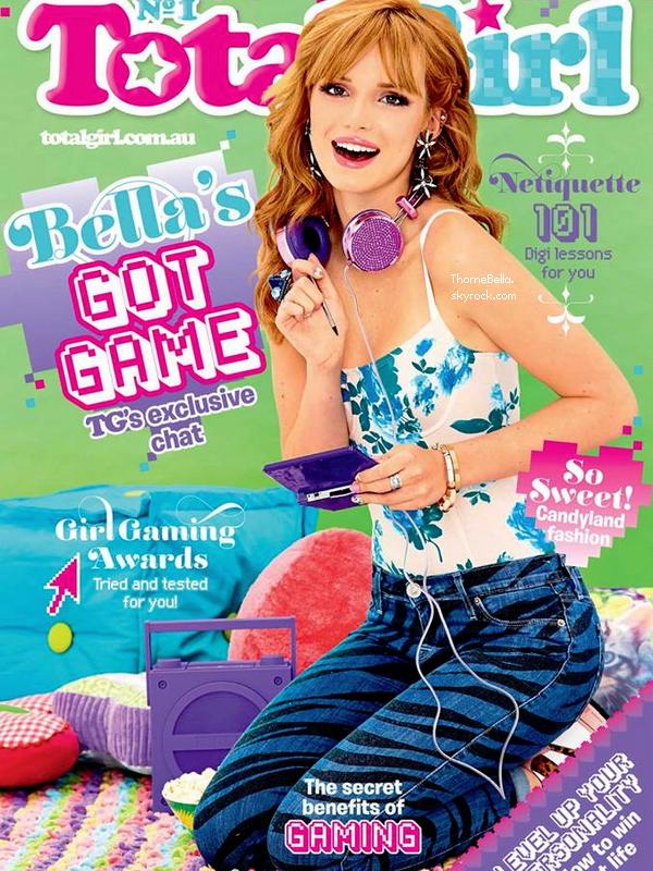 Bella en couverture du magazine Total Girl de novembre 2013.