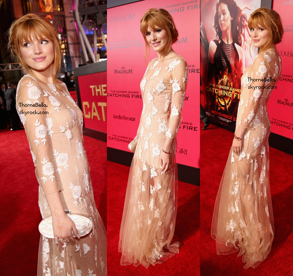 Bella à la première d'Hunger Games le 18 novembre 2013.