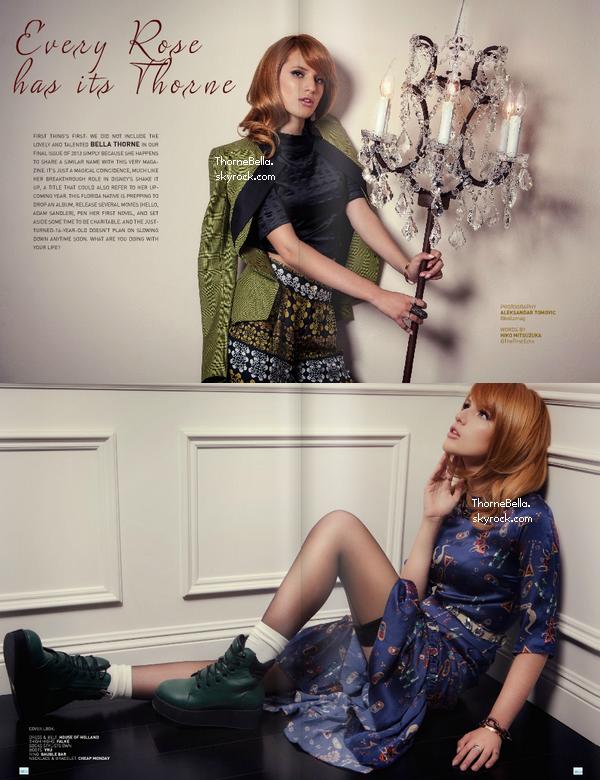 Photoshoot de Bella pour Bello Magazine.