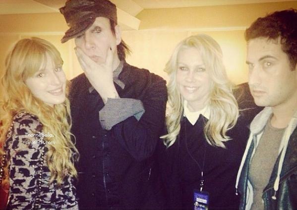 Bella avec Marilyn Manson le 4 décembre 2013.