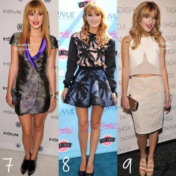 Choissisez votre top et votre flop de Bella en 2013 lors d'événement ?