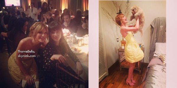 Bella à un dîner organisé par le Elle magazine le 22 janvier 2014.