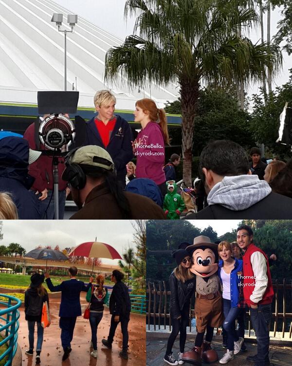 Nouvelles photos de Bella et Ross sur le tournage de Danimals + photos twitter le 29 janvier 2014.