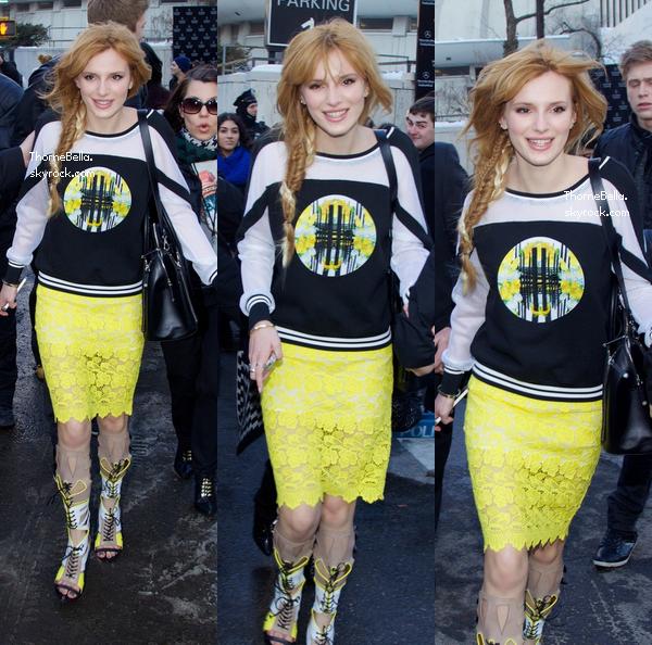 Bella, Victoria et Zendaya ont assisté au défilé de Rebecca Minkoff le 7 février 2014.