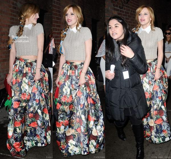 Bella au défilé d'Alice + Olivia à NYC le 10 février 2014.