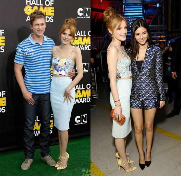 Bella et Tristan au 4ème Cartoon Network'sHall of Game Awards le 15 février 2014.