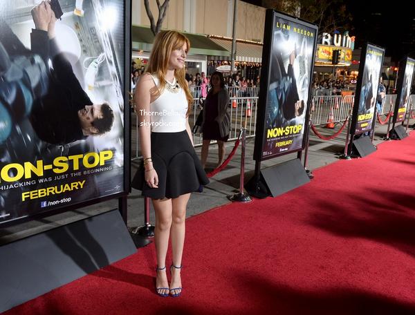 Bella à la première du film Non-Stop le 24 février 2014.