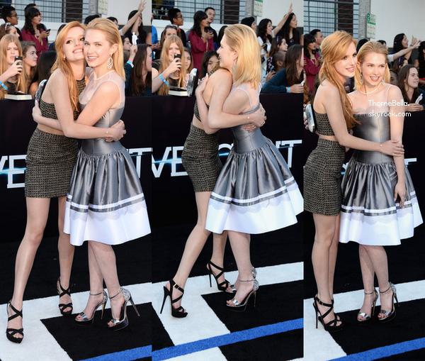 """Bella à la première du film """"Divergent"""" le 18 mars 2014."""