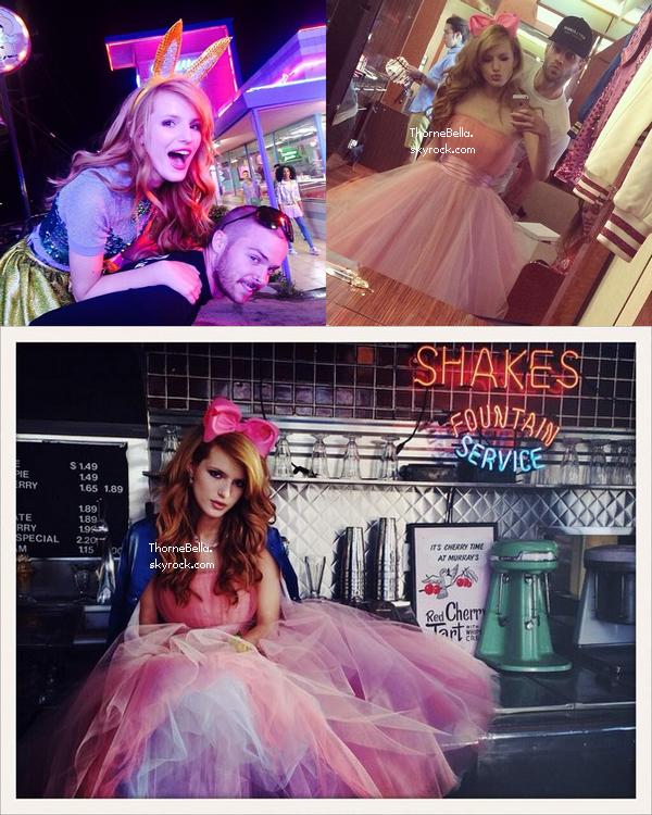 Bella sur le tournage de son nouveau clip le 6 avril 2014.