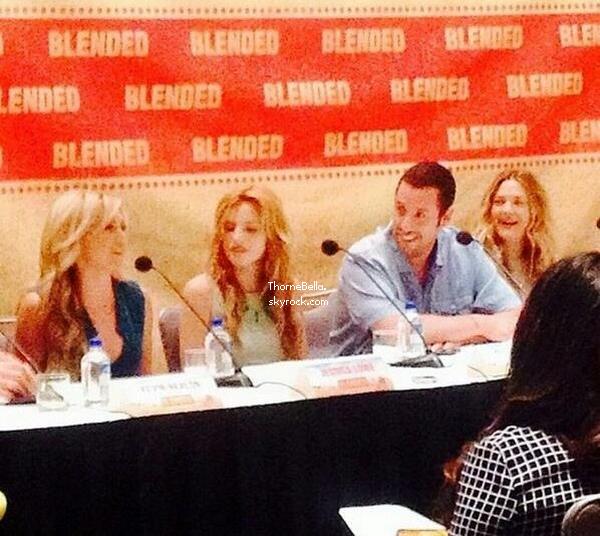 Conférence de press pour Blended le 13 mai 2014.