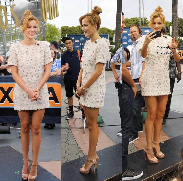 Bella a l'émission Extra le mercredi 21 mai 2014 au matin.