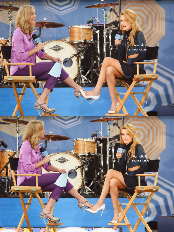 En matinée, Bella s'est rendue chez Good Morning America le 23 mai 2014.