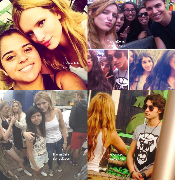Bella et ses co-stars de The Duff à Atlanta le 3 juin.