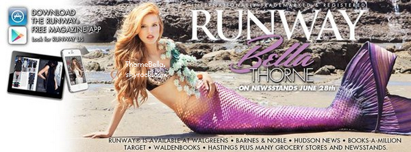 Bella en couverture du magazine Runway.