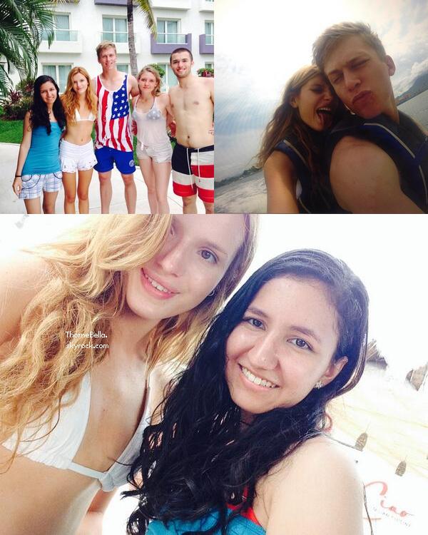Bella avec sa famille à Nuevo Vallarta le 4 juillet 2014.