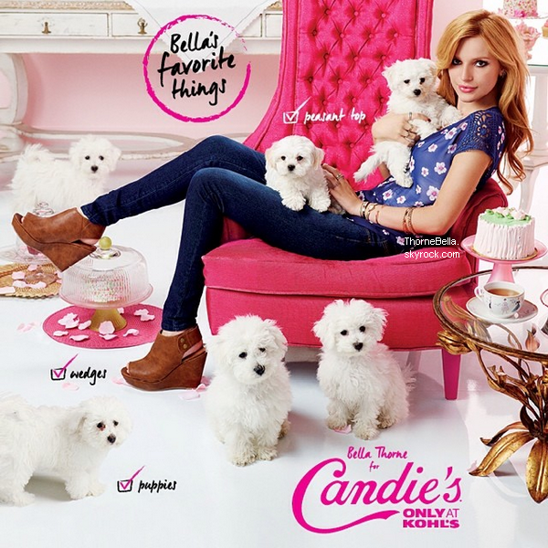 Premières photos du nouveau shoot de Bella pour Candie's.