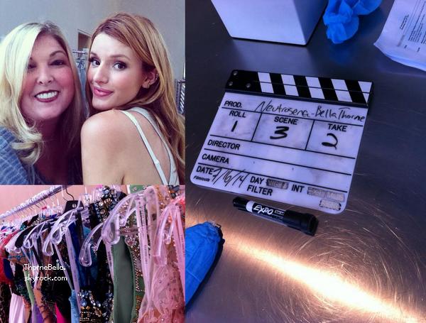 Nouvelles photos de Bella sur le tournage de Neutrogena et Sherri Hill.