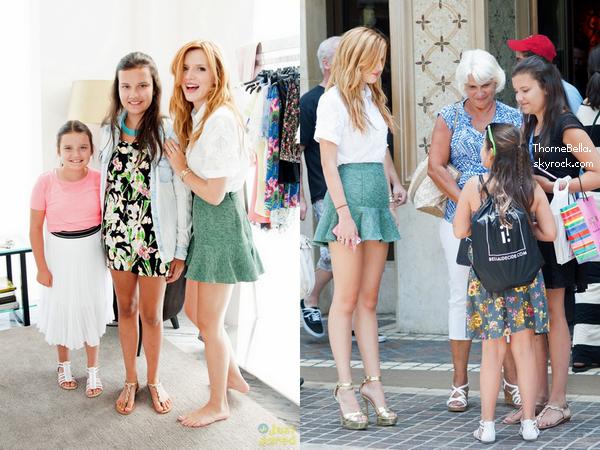 Bella a été vu au Grove avec les gagnants du concours de IDecide le 20 juillet 2014.
