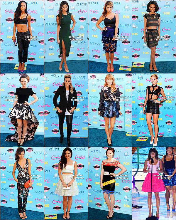 * *_● ● ● ' COLLABORATION // TEEN CHOICE AWARDS       Les Teen Choice Awards 2014 arrivant à grand pas, profites-en pour voter pour ta tenue préféré de l'année dernière !  *