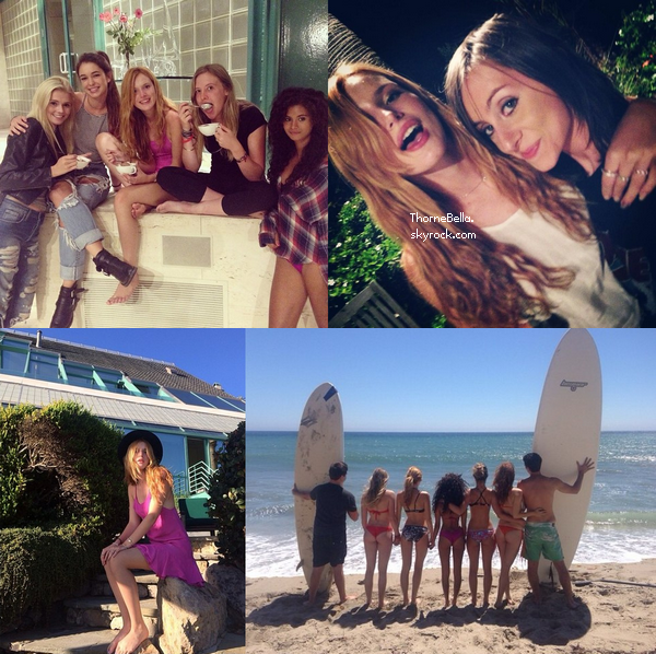 Bella a été vu à la plage de Malibu le 17 août avec sa famille et ses amis.