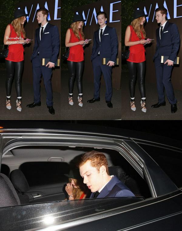 Bella et Cameron sortant de la fête des pré-Emmy le 23 août.