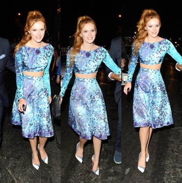 Bella s'est rendue au défilé d'Alice + Olivia à NYC le 8 septembre 2014.