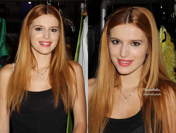 Bella a assisté au défilé organisé par Subway (une compétition) le 9 septembre.