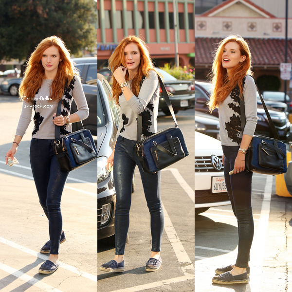 Bella dans les rues de Los Angeles le 15 septembre.