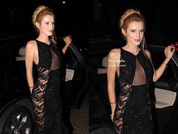 Bella au Gala AmFAR à Milan le 20 septembre.