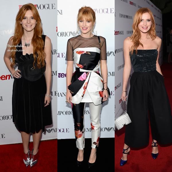 Bella a été à la soirée organisée par Teen Vogue le 26 septembre.