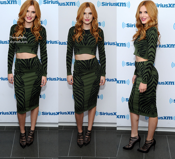 Bella au studio SiriusXM à NYC le 3 octobre.