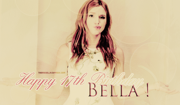 Happy Birthday Bella !