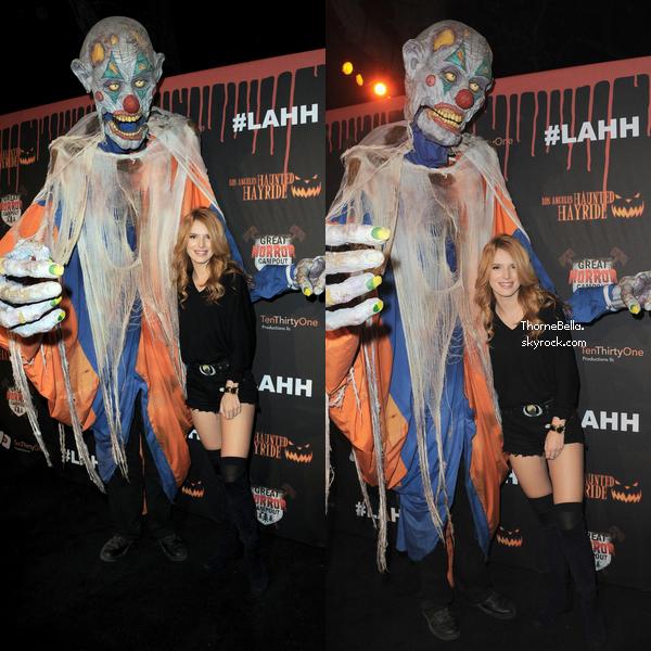 Bella à la 6ème cérémonie des Haunted Hayride le 9 octobre.