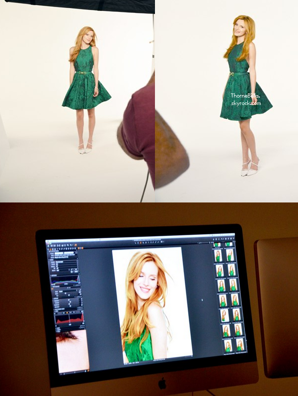 "Behind du shoot de Bella pour ""Autumn Falls""."