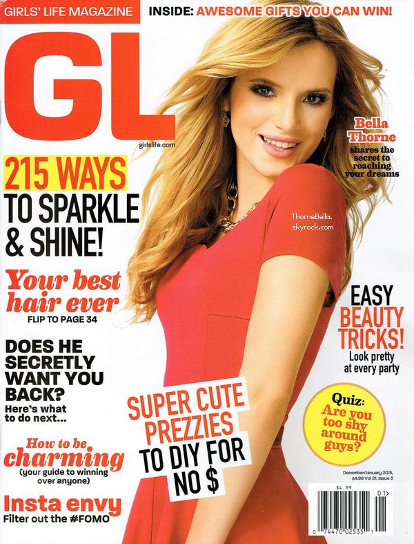 Bella en couverture du magazine Girls Life de décembre/janvier.